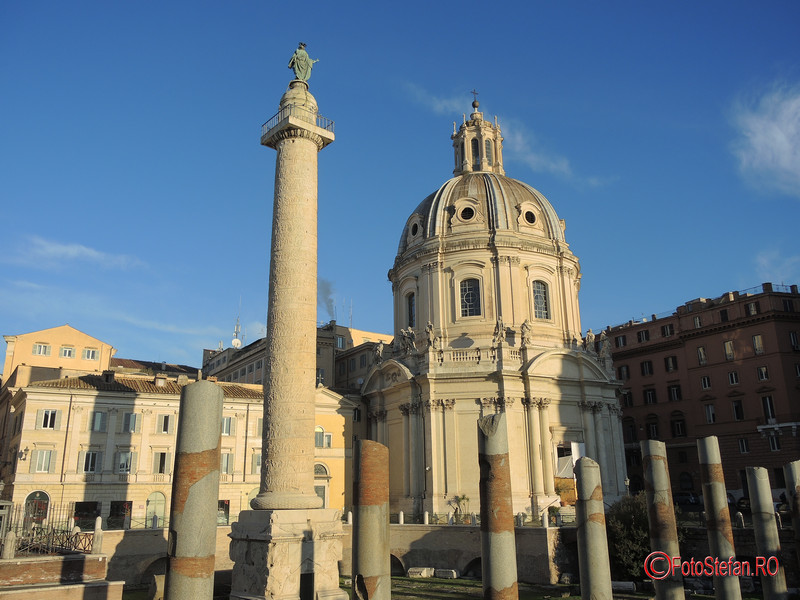 poza columna lui traian roma italia decembrie