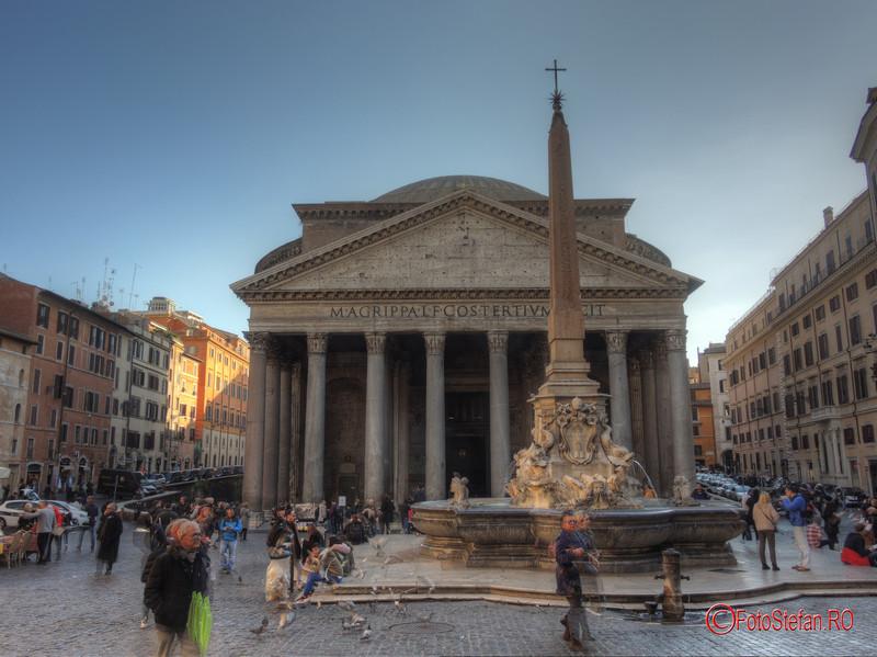 poza hdr panteon roma italia iarna decembrie