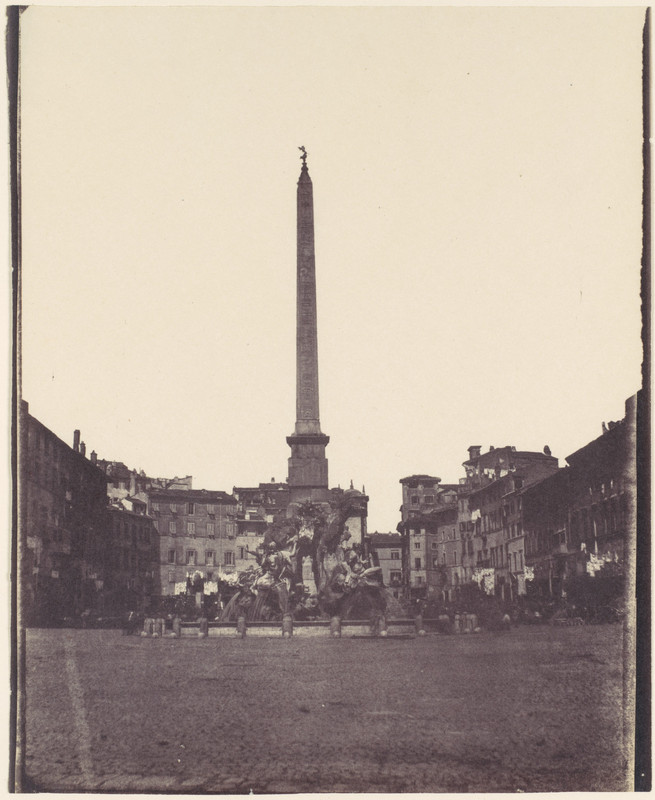Piazza Navona veche poza gratuita roma 1850