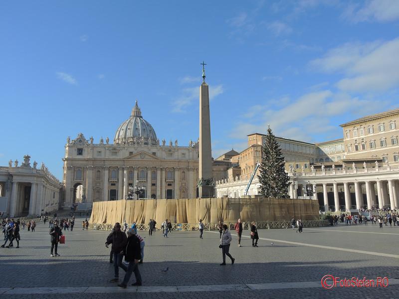 poza Basilica di San Pietro decembrie Roma Italia