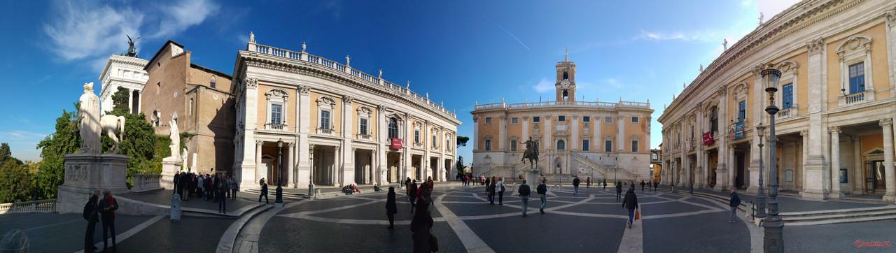 poza panoramica muzeele capitoline roma italia