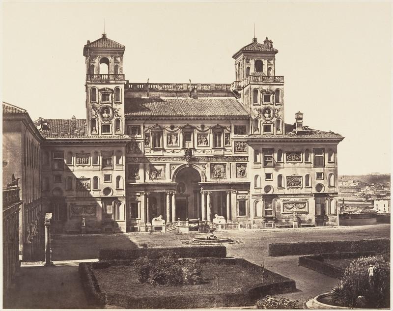 veche poza gratuita Villa Medici Eugène Constant 1848-52