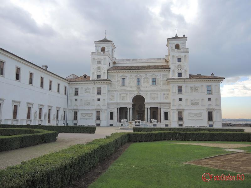 fotografii Villa Medici Roma Italia decembrie