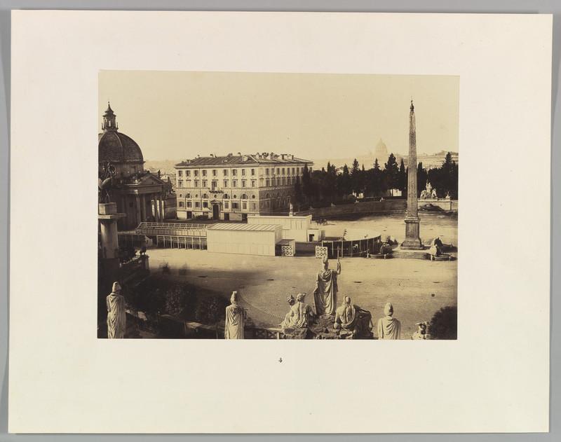 fotografie gratuita veche Piazza del Popolo roma 1850