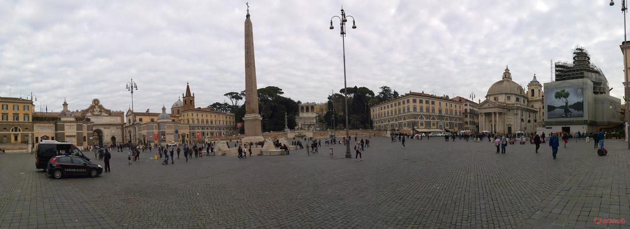 poza panoramic Piazza del Popolo Roma Italia iarna
