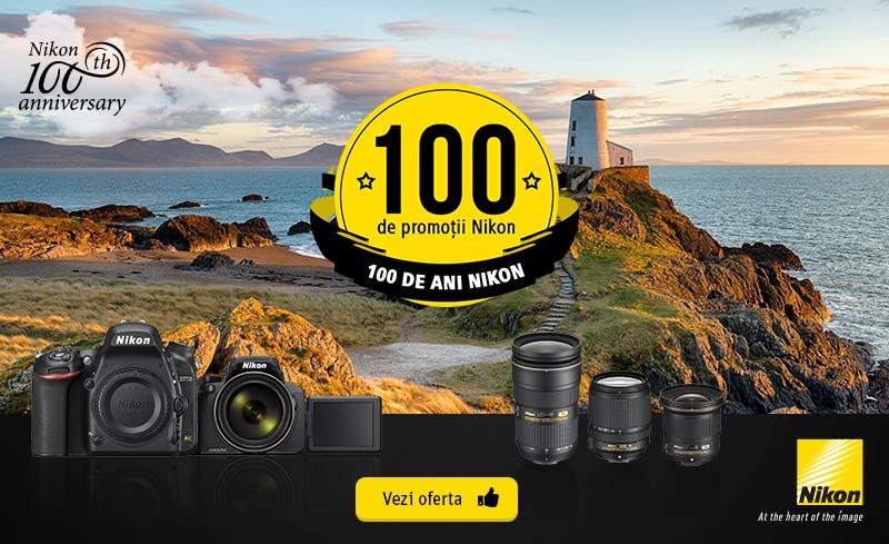 100 promotii reduceri pret aparate foto obiective nikon