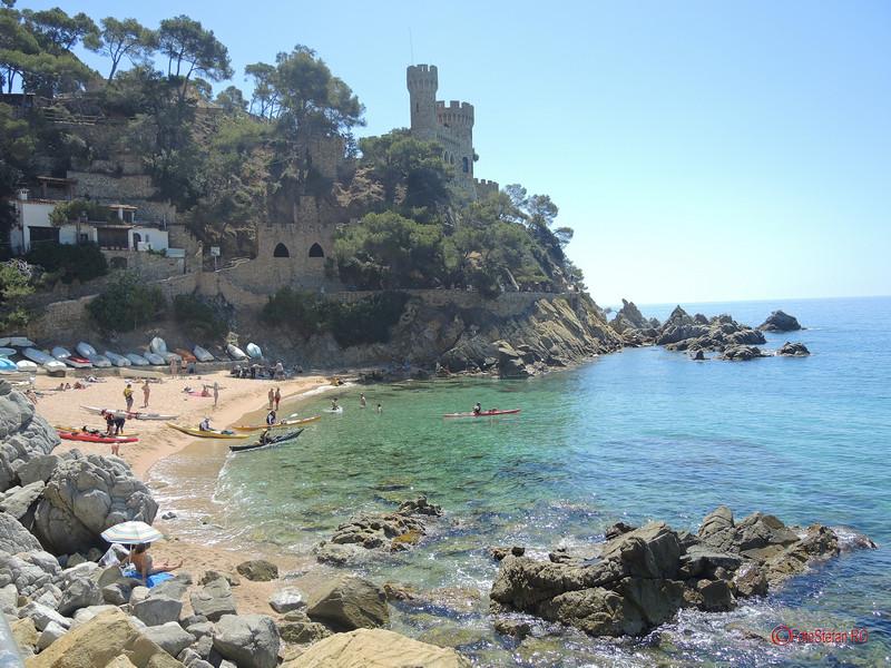 poze foto castel D'en Plaja lloret de mar costa brava