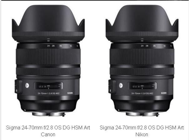 obiective canon nikon Sigma 24-70mm f/2.8 DG HSM OS Art
