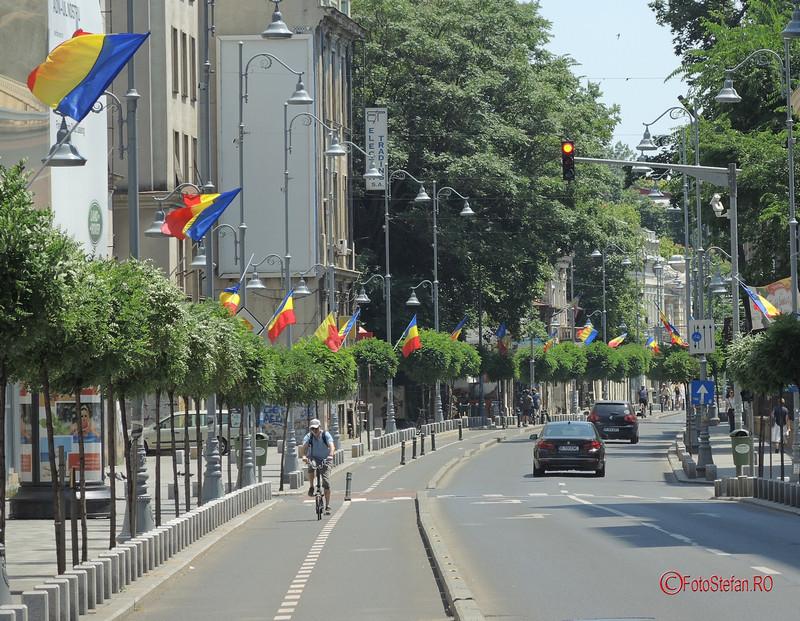 poza steaguri tricolore calea victoriei bucuresti
