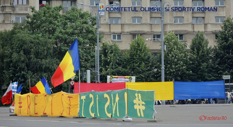#rezist steaguri piata victoriei bucuresti
