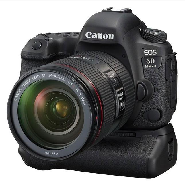 poza aparat foto dslr Canon 6D Mark II grip