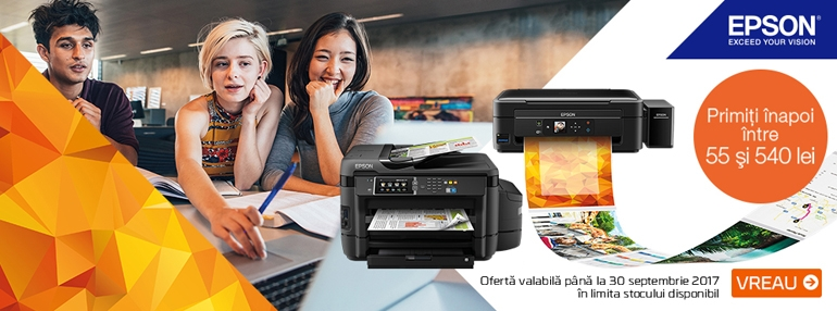 promotii reduceri imprimante foto epson cashback