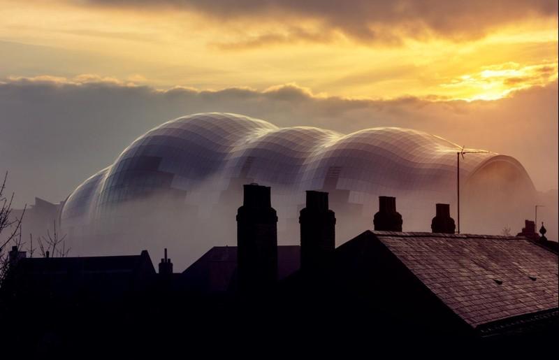 fotografie arhitectura sala de concerte Sage Gateshead
