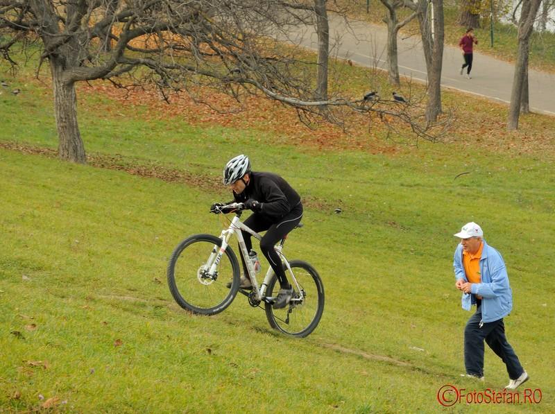 poza biciclist toamna deal bucuresti