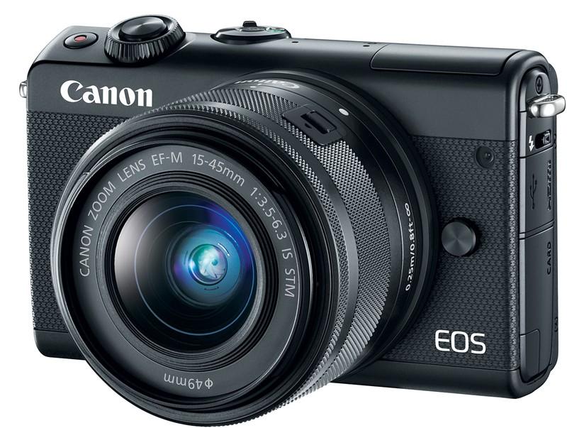 poza aparat foto mirrorless canon eos m100