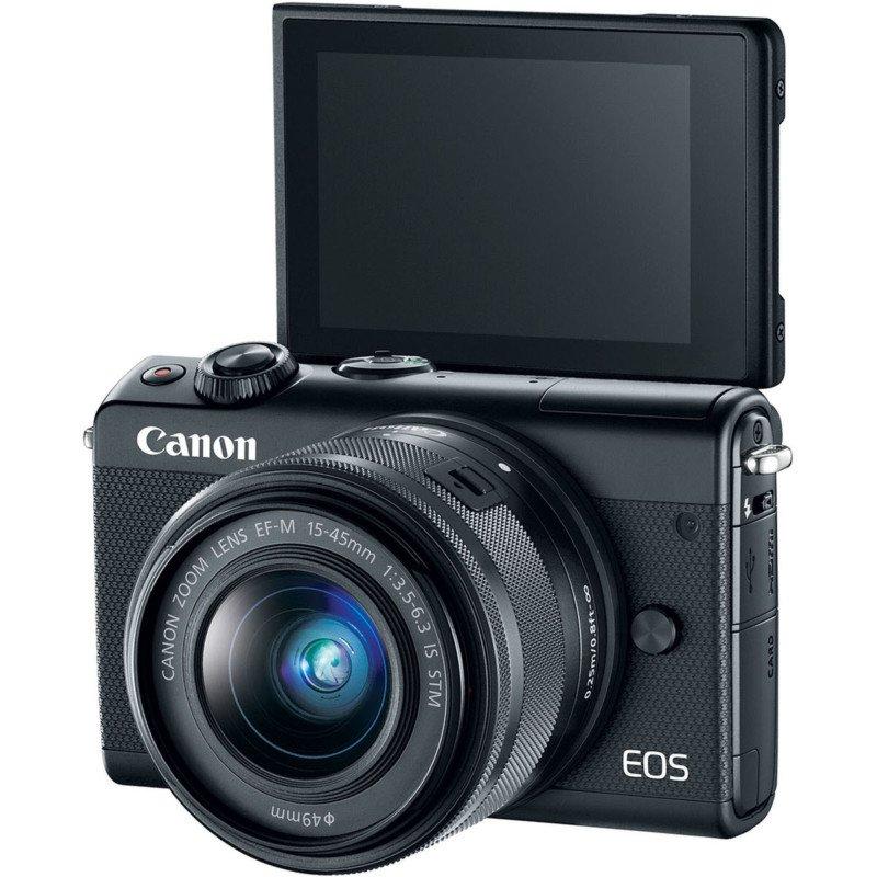 canon eos m100 lcd selfie autoportret