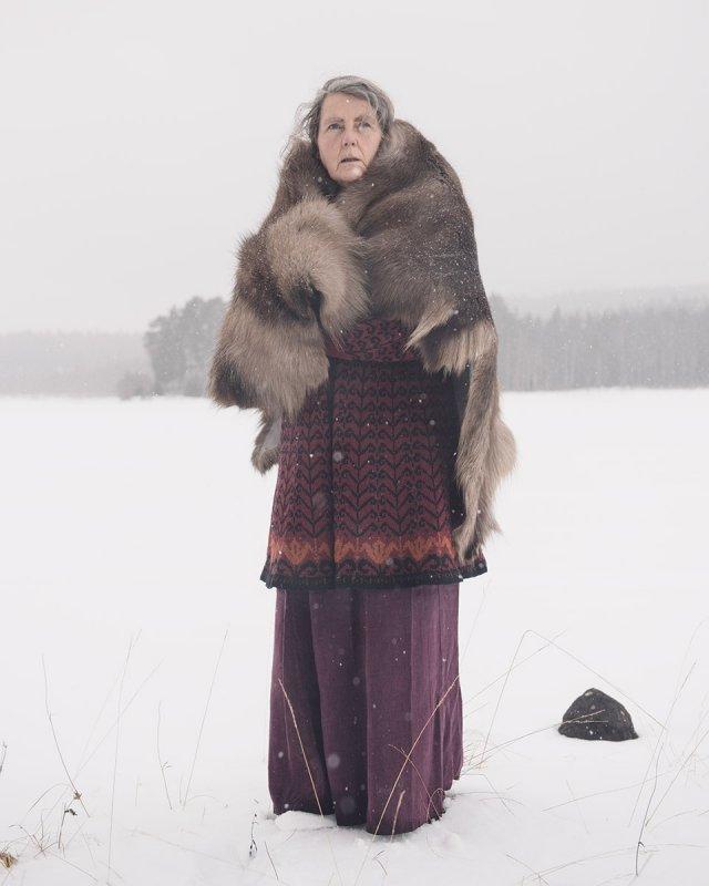 poza femeie norvegiana iarna norvegia zapada