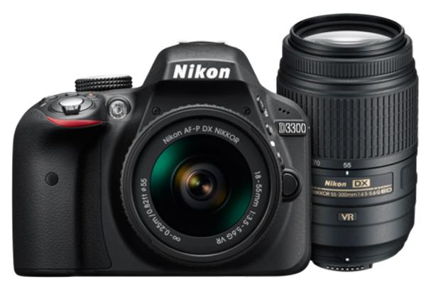 poza aparat foto dslr Nikon D3300 Dual Zoom Kit