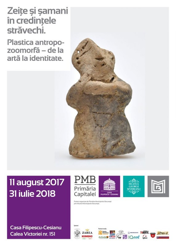 poza afis expozitie statui statuete zeite samani casa filipescu-cesianu bucuresti