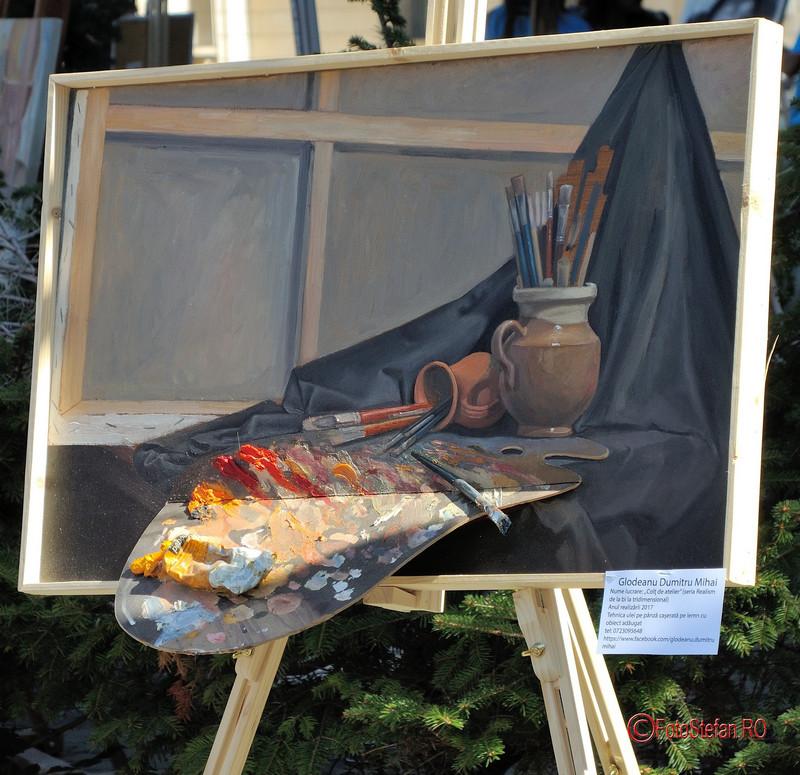 poza tablou 3D glodeanu dumitru mihai Art Walk Street 2017 #AWS  Piata Revolutiei Bucuresti