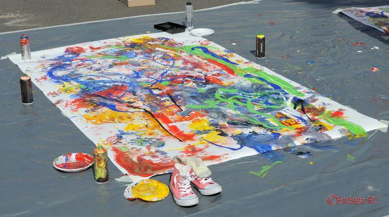 poza foto tablou pictura h.e.art humans embodying art Art Walk Street 2017 #AWS Piata Revolutiei Bucuresti