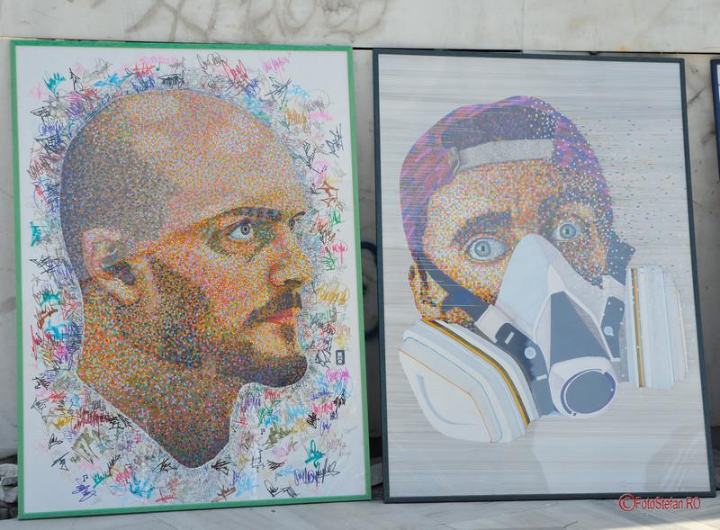 tablouri bogdan cazacincu Art Walk Street 2017 #AWS  Piata Revolutiei Bucuresti