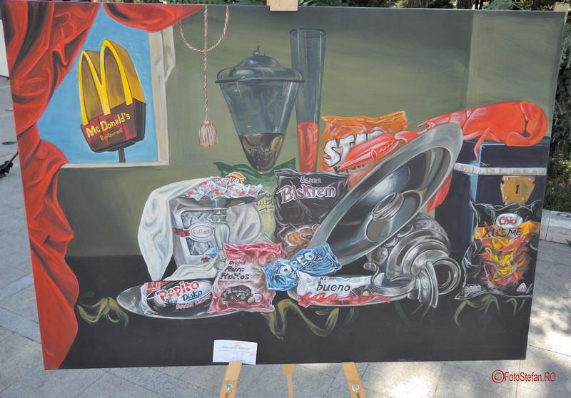 poza tablou pictura andreea ungureanu Art Walk Street 2017 #AWS  Piata Revolutiei Bucuresti