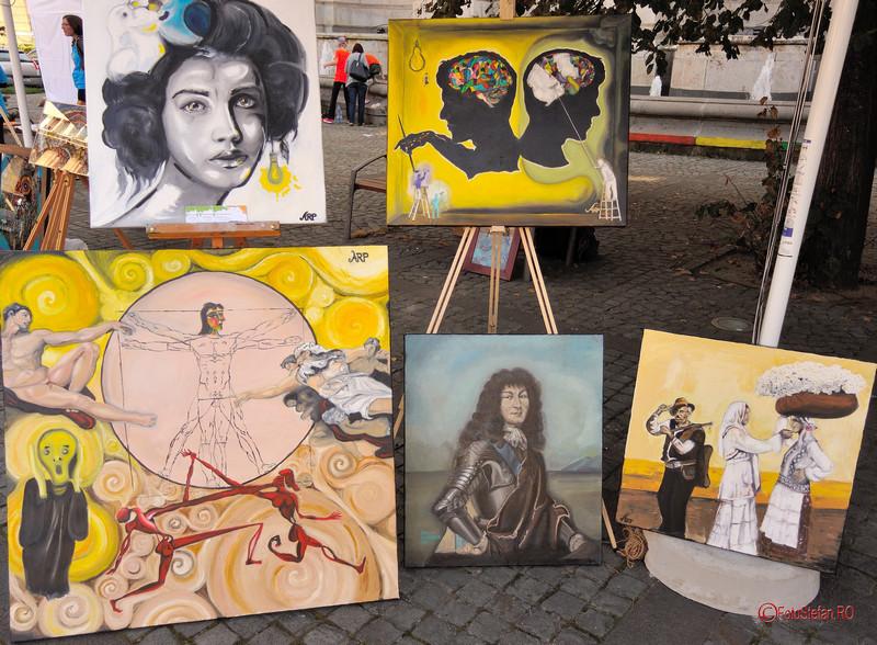 poze tablouri picturi anca ana ruxandra pop Art Walk Street 2017 #AWS  Piata Revolutiei Bucuresti