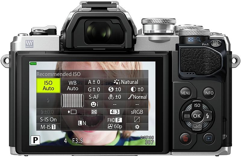 lcd meniu aparat foto mirroless Olympus OM-D E-M10 Mark III
