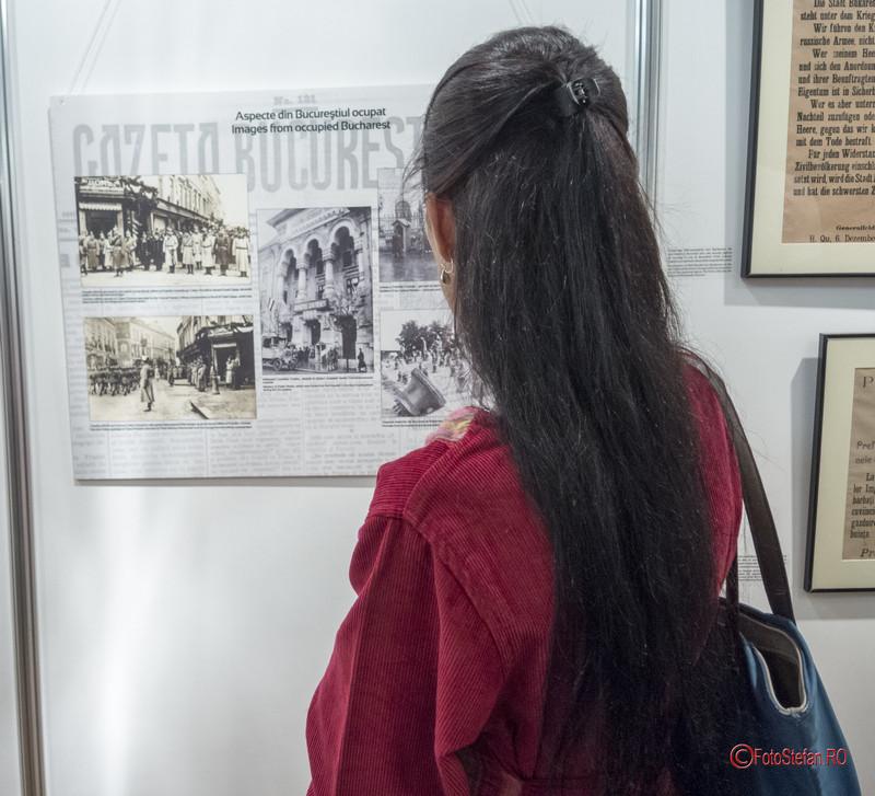 poze vernisaj Expozitia Bucurestii sub ocupatie (1916-1918 Palatul Sutu