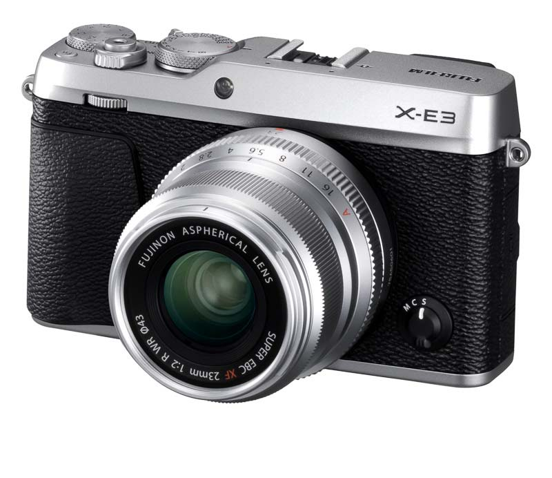 poza aparat foto mirrorless argintiu Fujifilm X-E3