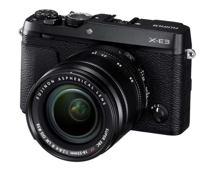 poza parat foto negru mirrorless Fujifilm X-E3