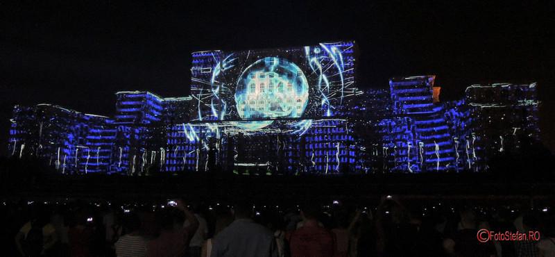 poze concurs international video mapping 3D iMapp Bucharest 2017 casa poporului
