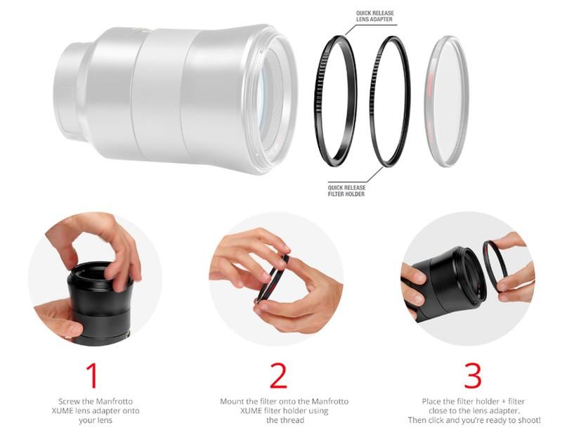 Manfrotto Xume sistem magnetic atasare rapida filtre obiectiv