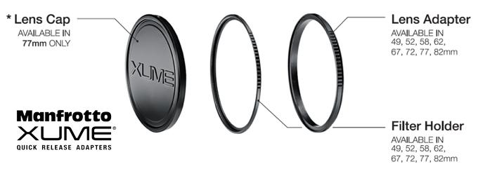 Manfrotto Xume sistem atasare filtre obiectiv aparat foto