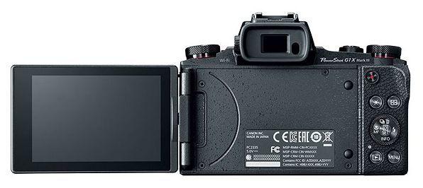 poza lcd mobil aparat foto Canon G1 X Mark III