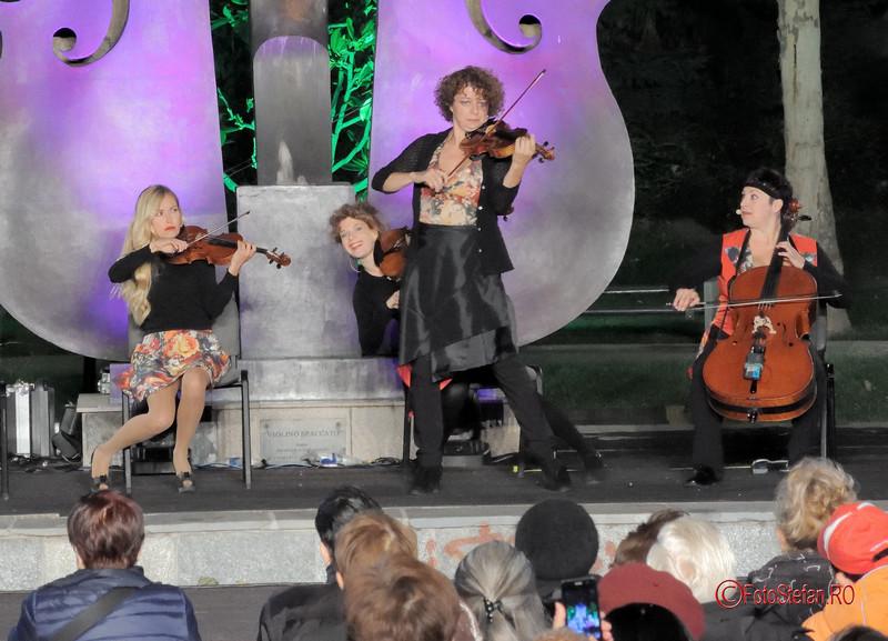 poze foto fete violoniste The Quartetto Euphoria simfonii de vara parcul coltea bucuresti 2017
