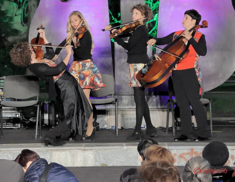 poza The Quartetto Euphoria fete artiste violoniste