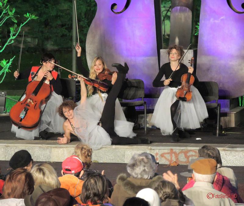 poze fotografii fete fuste balerina viori violoniste he Quartetto Euphoria #ParculColtea #SimfoniiDeVara bucuresti 2017