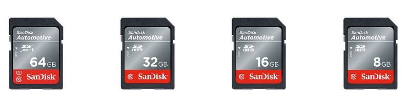 poza carduri memorie rezistente temperaturi scazute ridicate SanDisk Industrial SanDisk Automotive