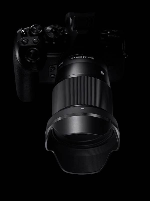 aparat foto mirrorless montura e sony mtf Sigma 16mm f/1.4 DC DN [C]