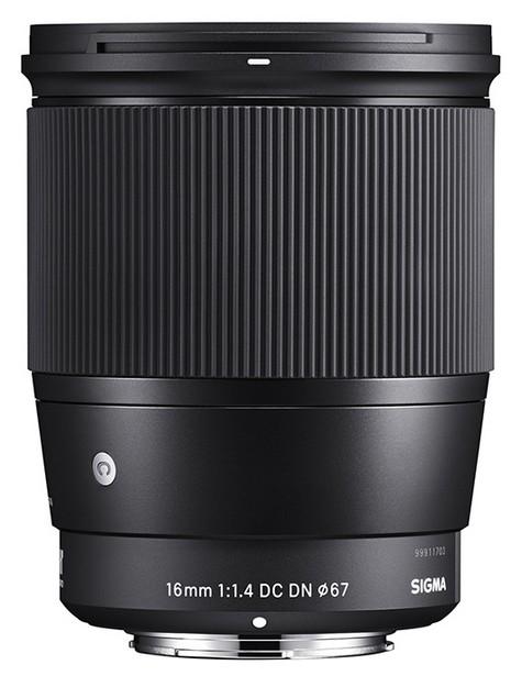 obiectiv aparat foto mirrorless Sony E MTF Sigma 16mm f/1.4 DC DN [C]