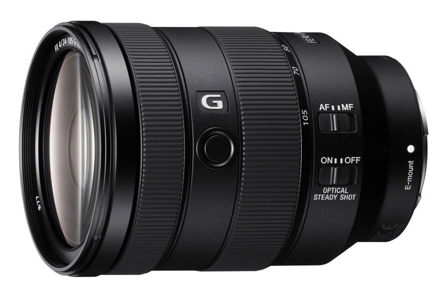 poza obiectiv mirrorless full frame montura e Sony FE 24-105mm F4 G OSS modelul SEL24105G