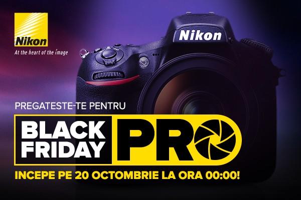 poza afis reduceri promorii nikon black friday 2017