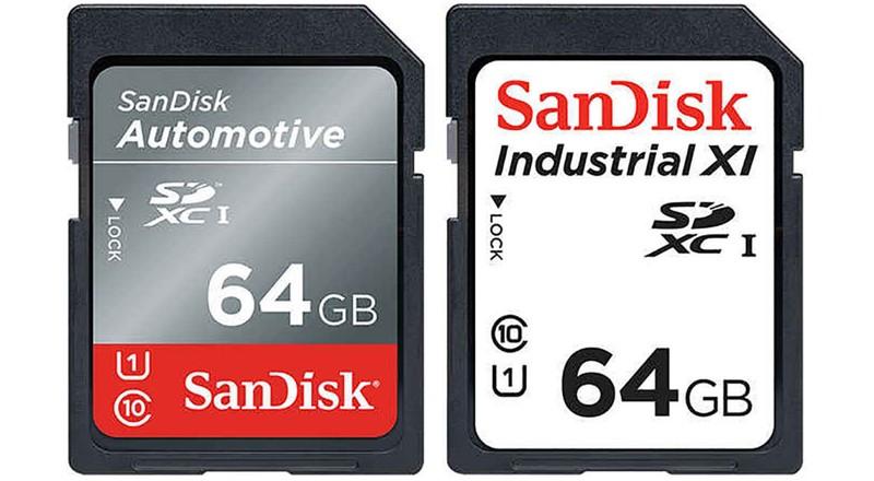poza carduri de memorie rezistente temperaturi extreme SanDisk Industrial si Automotive
