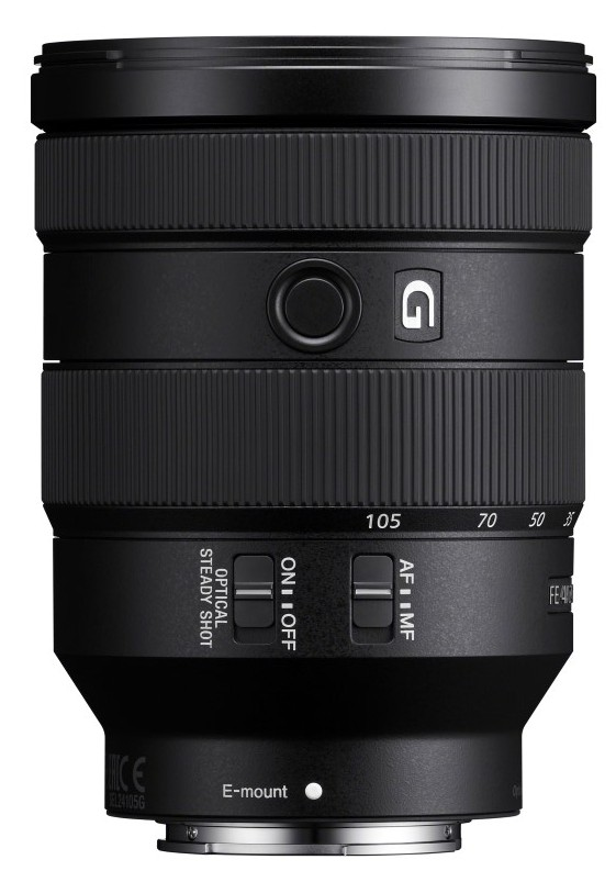 obiectiv aparat foto mirrorless montura e Sony FE 24-105mm F4 G OSS modelul SEL24105G