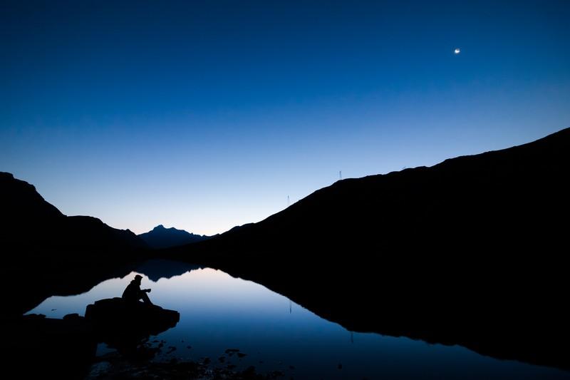fotografie peisaj lac Colle del Nivolet Torino italia