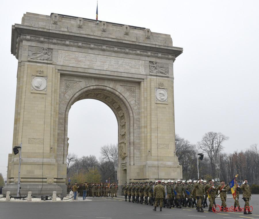 poza fotografie Repetitii parada militara 1 Decembrie Ziua Nationala a Romaniei Arcul de Triumf Bucuresti 2017