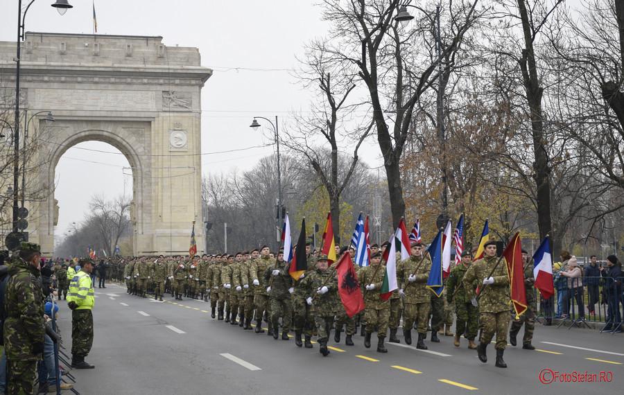 poze fotografii Repetitii pentru parada militara de 1 Decembrie Ziua Nationala a Romaniei Arcul de Triumf Bucuresti 2017