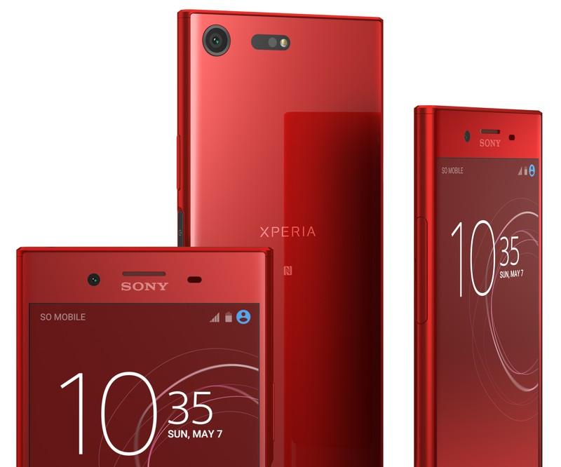 poza smartphone mobil Sony Xperia XZ Premium Rosso rosu opulent